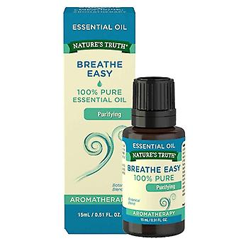 Nature's truth aromatherapy essential oil blend, breathe easy, 0.51 oz
