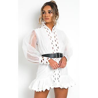 IKRUSH Womens Ariana Sheer Mesh Mini Dress
