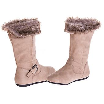 Sara Z Girls Microsuede Boots With Fur Lining