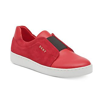 DKNY Womens Bobbi Leather Low Top Slip On Fashion Sneakers