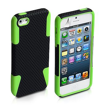 YouSave Accessories iPhone 5 5S Green Mesh Combo Case