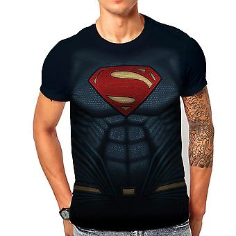 Men's Justice League Superman Sublimated Costume T-Shirt