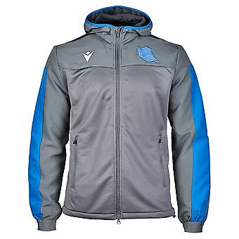 2019-2020 Real Sociedad macron Anthem Jacket (grijs)
