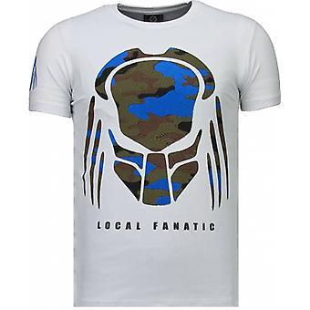 Predator-Rhinestone T-shirt-White