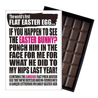 Grappige platte Easter Egg chocolade bar wenskaart cadeau vrouwen vriendin vrouw UK EIYF120