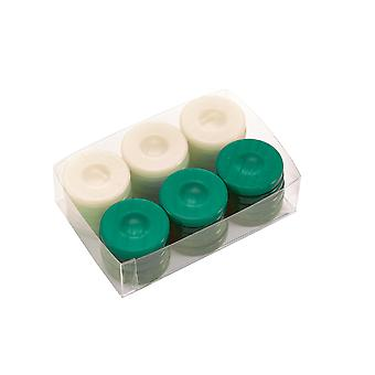 Deluxe Backgammon Stones Green & Ivory 36mm
