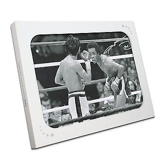 Sugar Ray Leonard signert Boxing fotografere: Fighting Roberto Duran i gaveeske