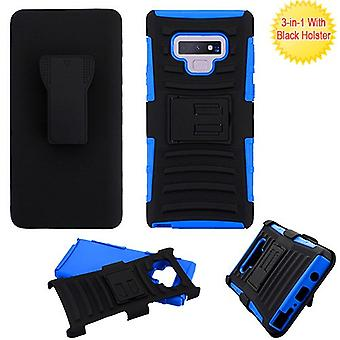ASMYNA Black/Dark Blue Advanced Armor Stand Protector Cover Combo (w/ Holster) for Galaxy Note 9
