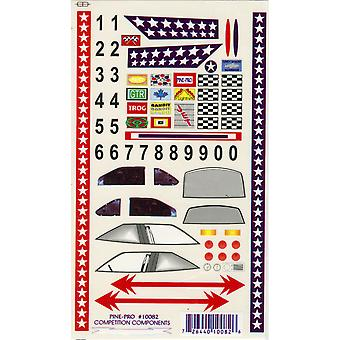 Pine Car Derby Decal Super Stock with Bonus Number Set Pp10082