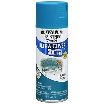 Painter's Touch Ultra Cover Satin Aerosol Paint 12 Ounces Lagoon Ptucs249 461