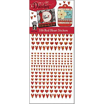 Dazzles Stickers 358 Red Heart Daz 1566
