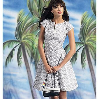 Misses' Women's Petite Lined Dresses  18W  20W  22W  24W Pattern M6741  Rr0