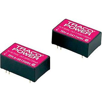 DC/DC converter (print) TracoPower 24 Vdc 15 Vdc, -15 Vdc 200 mA 6 W No. of outputs: 2 x
