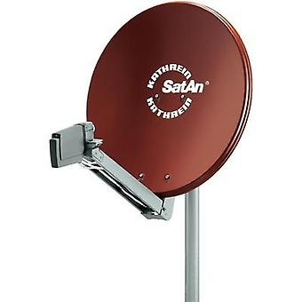 SAT antenna 75 cm Kathrein CAS 80 Reflective material: Aluminium Red brown