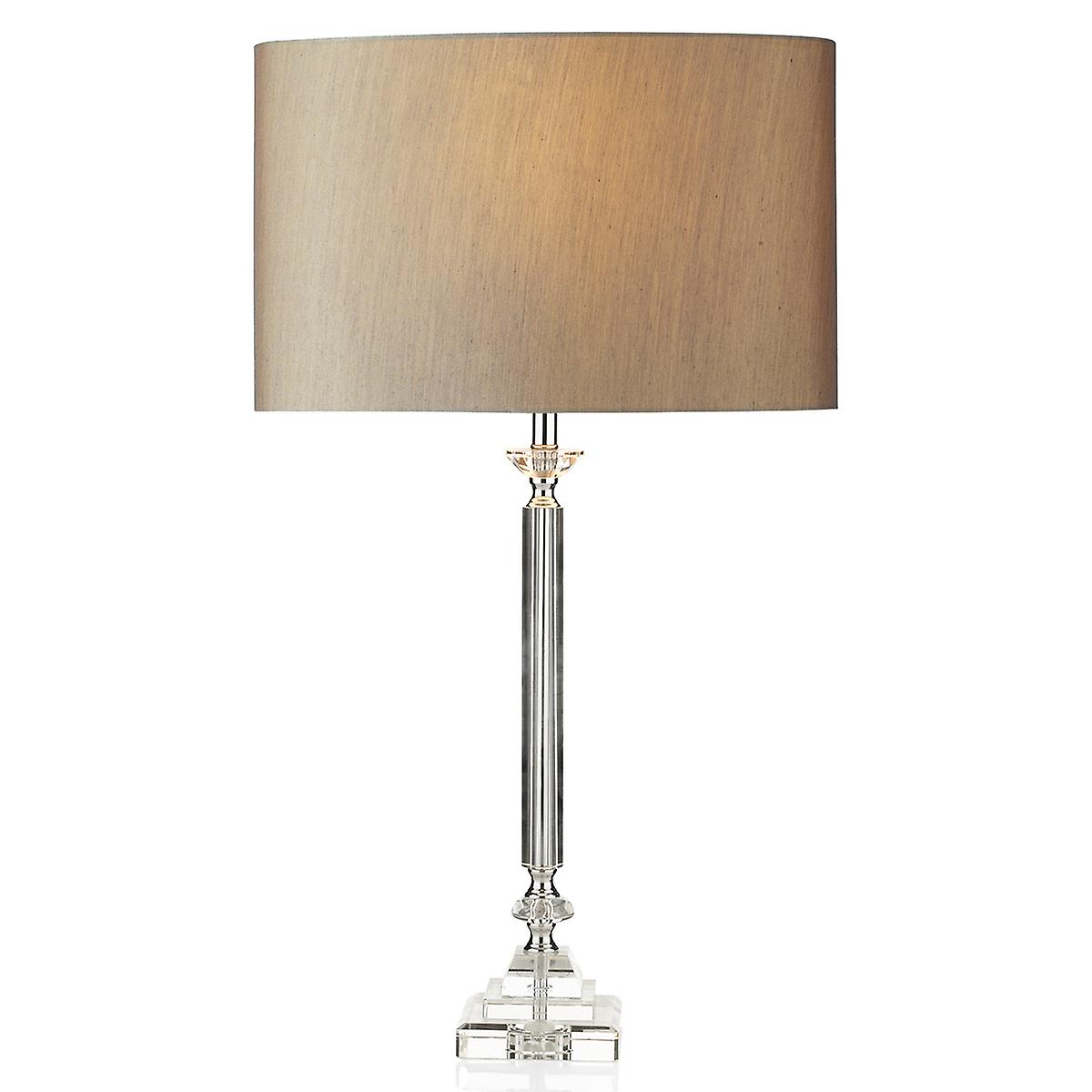 Dar SAH4208 Sahara Table Lamp Clear Complete With Shade