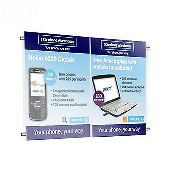 2 supports d'affiche x A4 - Agent immobilier câble Display system