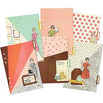 Reset Girl Double-Sided Dividers A5 6/Pkg-Foil Accents RG4977