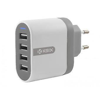 Ksix Direct adapter 4 USB ports 4800 mah
