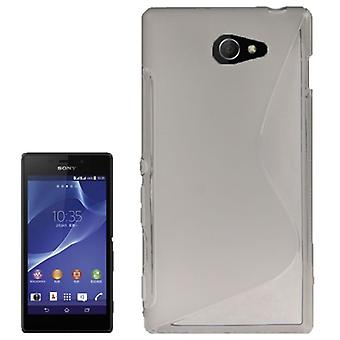 S line TPU case bag for Sony Xperia M2 S50h grey
