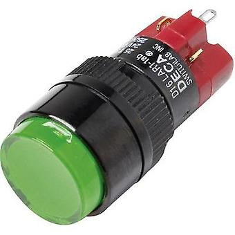 Pushbutton switch 250 Vac 5 A 1 x Off/On DECA D16LAR1-1abHG IP40 latch 1 pc(s)