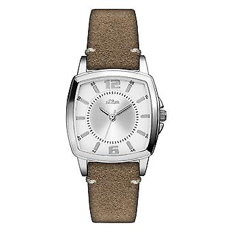 s.Oliver women's watch wristwatch leather SO-3247-LQ