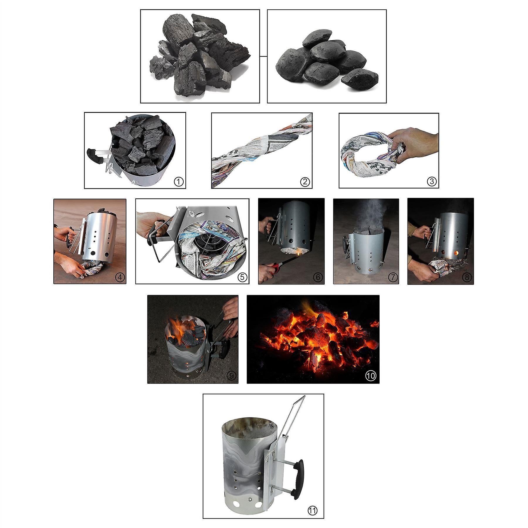 AMOS carbone Chimney Starter (pieghevole) 3,2 kg