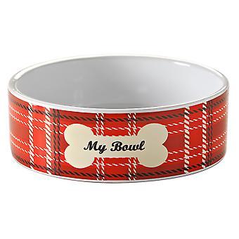 Mason Cash Tartan Pet Bowl 15 X 5cm