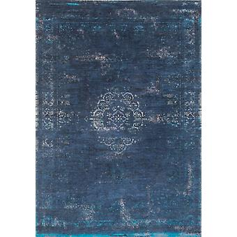Navy Blue Night Traditional Flatweave Rug - Louis De Poortere