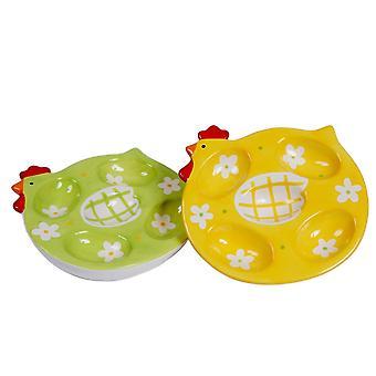 Poulet Design oeuf en céramique plaque servant à présenter la vaisselle