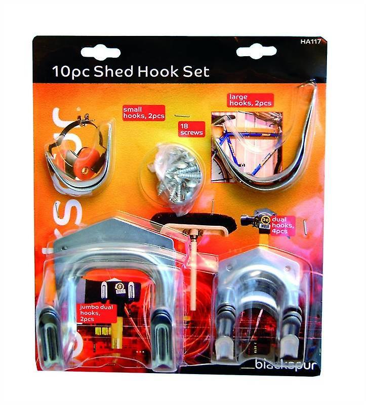 10pc Shed Hook Set