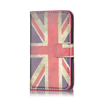 Design bok läderfallet täcker för Blackberry Z10 BB 10 - Union Jack UK flaggan