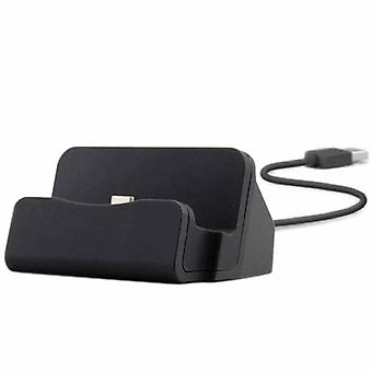 Cradle sync charger dock charging stand for micro USB Smartphone black