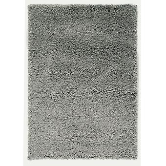 Silver Plain Shaggy Rug Petersberg