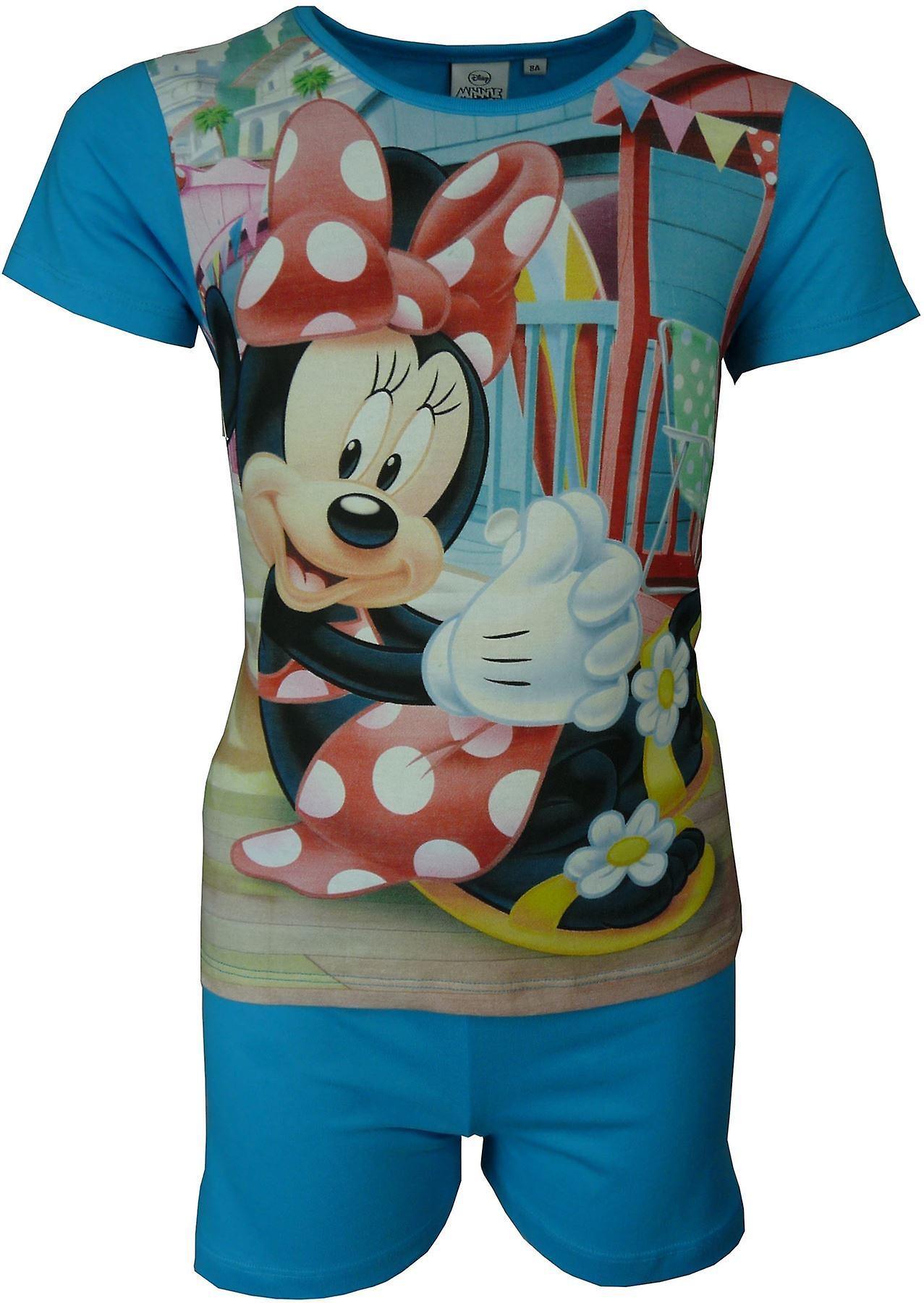 Disney Minnie Mouse Girls Short Sleeve Pyjamas Set