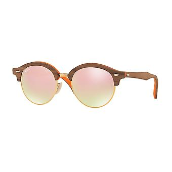 Ray-Ban Clubround Wood Brown Sunglasses RB4246M-12187O-51