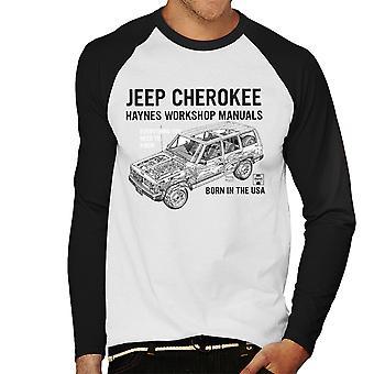 Haynes Owners Workshop Manual Jeep Cherokee Black Men's Baseball Long Sleeved T-Shirt