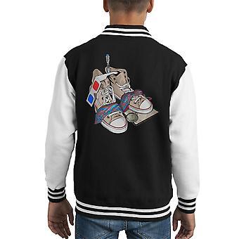 Doctor Who 10th Doctor Stuff Decem Kid's Varsity Jacket