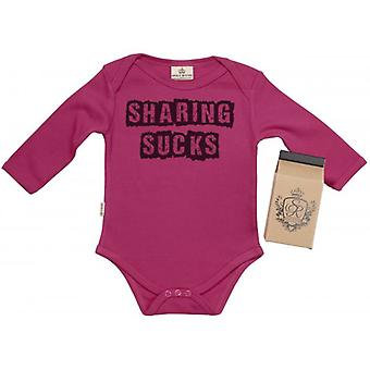 Spoilt Rotten Sharing Sucks Baby Grow 100% Organic In Milk Carton