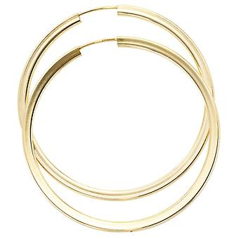 Hoop earrings, 333 / - yellow gold, diameter 46.6 mm