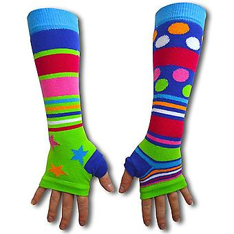 United Oddsocks Green Starry Dotty Armwarmers