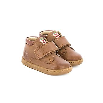 Shoo Pom Shoo Pom Bouba Desert Scratch Brown Leather Toddler Boys Boots
