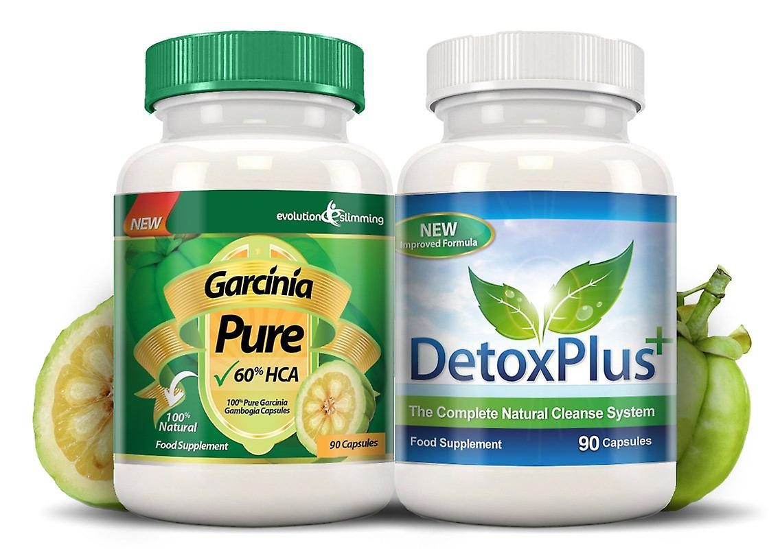Garcinia Pure 100% Garcinia Cambogia and Colon Cleanse Combo - 1 Month Supply - Fat Burner and Colon Cleanse - Evolution Slimming