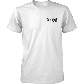 Licensed MOD -  RMA Sandhurst Motto - Ubique - Text - Kids Chest Design T-Shirt
