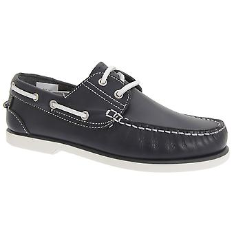 Dek Boys Leather Non Marking Moccasin Boat Shoes