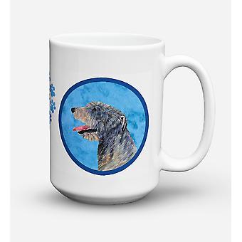 Irish Wolfhound  Dishwasher Safe Microwavable Ceramic Coffee Mug 15 ounce SS4782