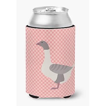Buff Grey Back Goose Pink Check Can or Bottle Hugger
