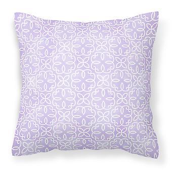 Gemoetric Circles on Purple Watercolor Fabric Decorative Pillow