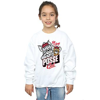 Tom And Jerry Girls Posse Cat Sweatshirt