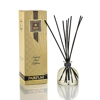 Large & Natural Reed Diffuser - Long-lasting & Healthy - Beautiful Perfumes that Compliment You - Fragrances for 6 - 9 months (250 ml) - by PAIRFUM - Perfume: Cedar Noir - For Men - with Black Reeds