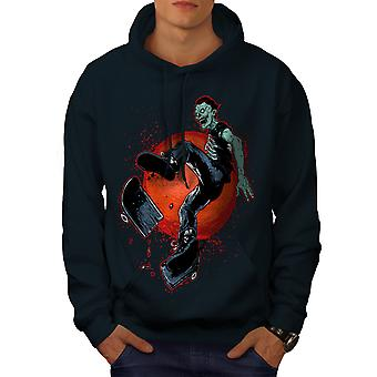 Bad Guy Skater Cool Men NavyHoodie | Wellcoda